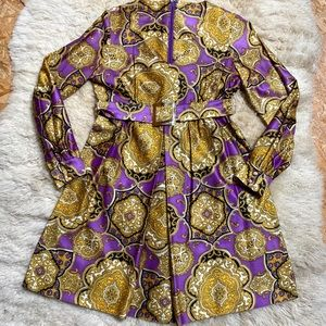 VTG 70s Purple Mini Dress